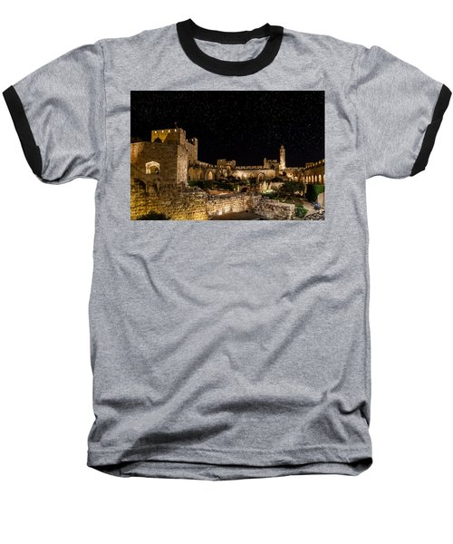 Night In The Old City Baseball T-Shirt by Alexey Stiop