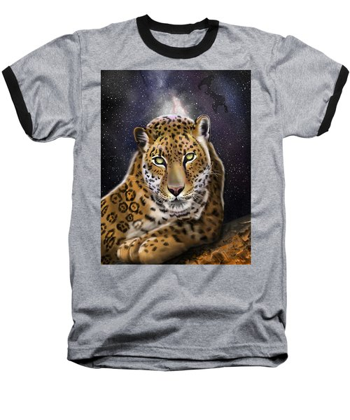 Fourth Of The Big Cat Series - Leopard Baseball T-Shirt