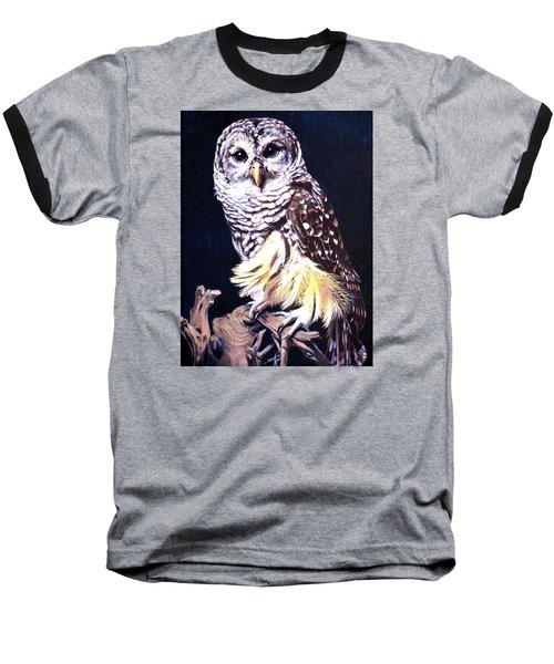 Night Owl Baseball T-Shirt by Vivien Rhyan