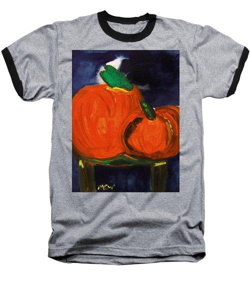 Night Pumpkins Baseball T-Shirt
