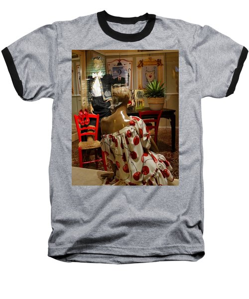 Baseball T-Shirt featuring the photograph Cherry Bomb by Natalie Ortiz
