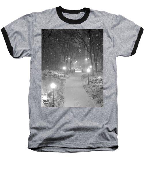 Night Storm New York Baseball T-Shirt
