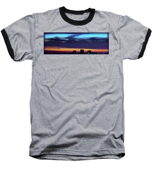 Baseball T-Shirt featuring the photograph Nightfall Over Pensacola Beach by Faith Williams