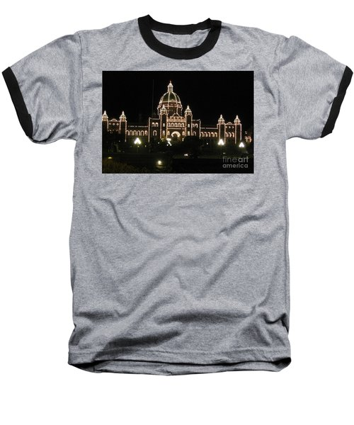 Nightly Parliament Buildings Baseball T-Shirt