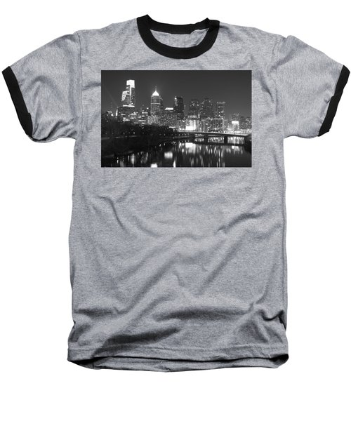 Baseball T-Shirt featuring the photograph Nighttime In Philadelphia by Alice Gipson