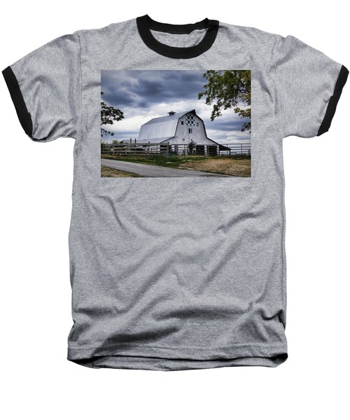 Nine Patch Quilt Barn Baseball T-Shirt
