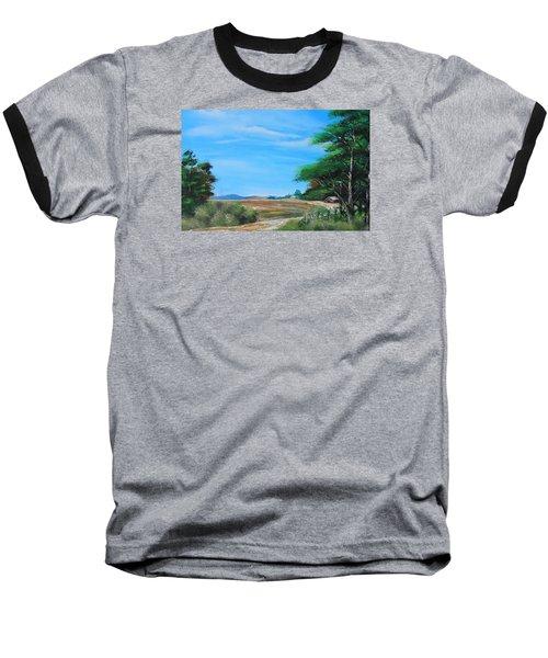 Nipa Hut In The Barrio Baseball T-Shirt by Remegio Onia