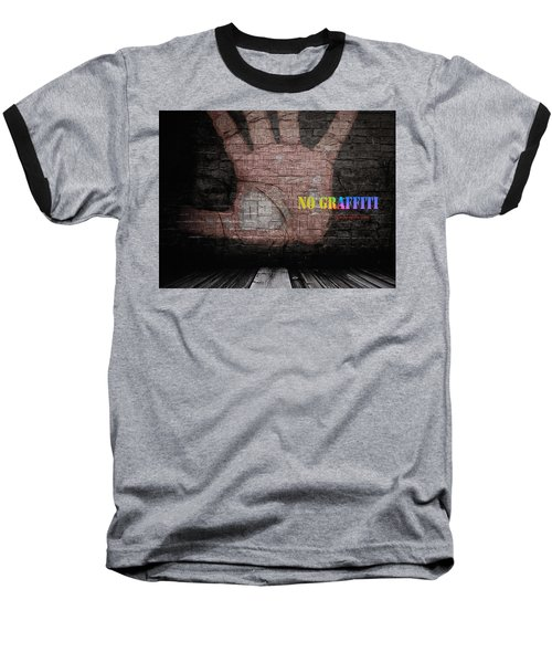 No Graffiti Baseball T-Shirt by ISAW Gallery