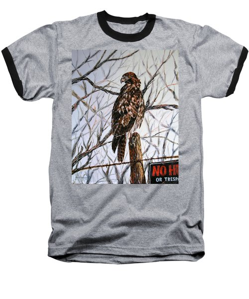No Hunting Baseball T-Shirt by Craig T Burgwardt