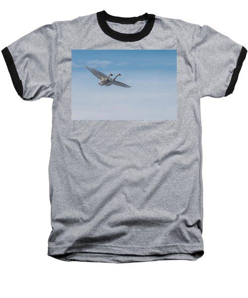 Trumpeter Swan Tandem Flight I Baseball T-Shirt
