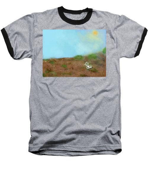 No Man's Land Baseball T-Shirt by Renee Michelle Wenker