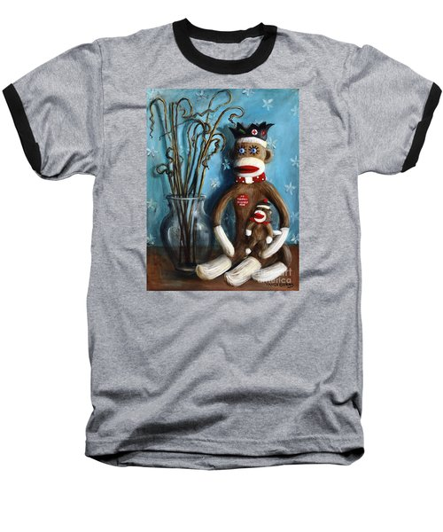 No Monkey Business Here 1 Baseball T-Shirt