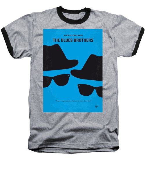 No012 My Blues Brother Minimal Movie Poster Baseball T-Shirt by Chungkong Art