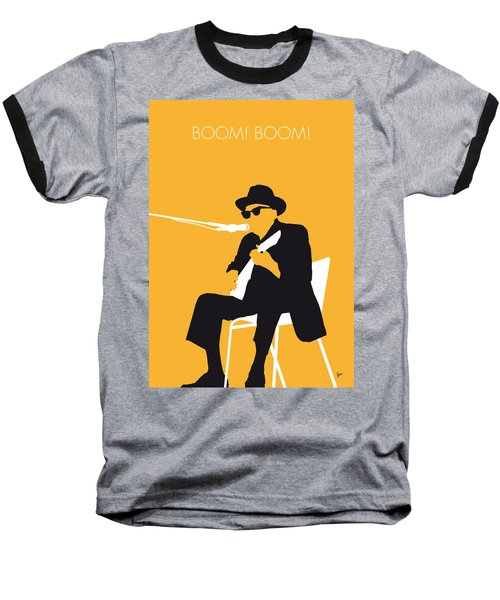 No054 My Johnny Lee Hooker Minimal Music Poster Baseball T-Shirt by Chungkong Art