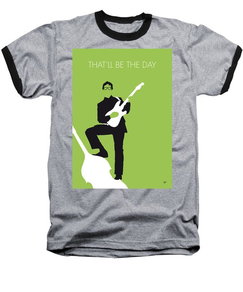 No056 My Buddy Holly Minimal Music Poster Baseball T-Shirt by Chungkong Art