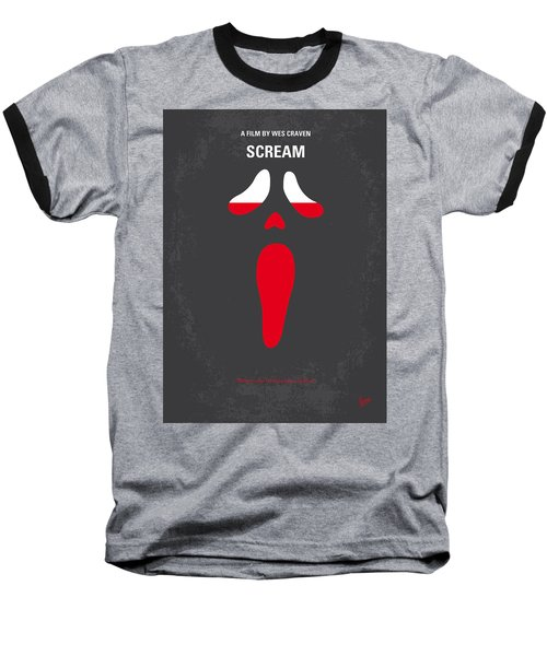 No121 My Scream Minimal Movie Poster Baseball T-Shirt
