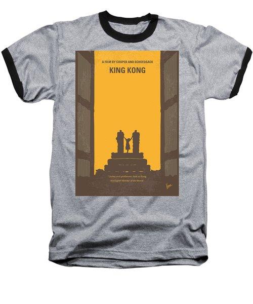 No133 My King Kong Minimal Movie Poster Baseball T-Shirt