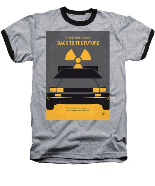 No183 My Back To The Future Minimal Movie Poster Baseball T-Shirt by Chungkong Art