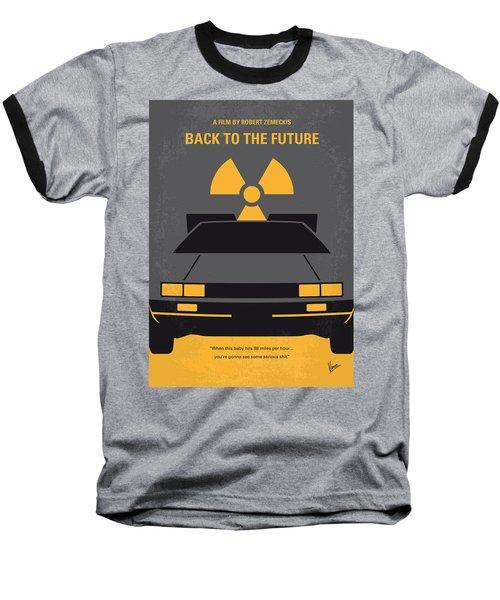 No183 My Back To The Future Minimal Movie Poster Baseball T-Shirt
