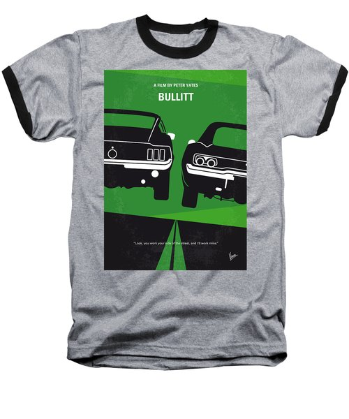 No214 My Bullitt Minimal Movie Poster Baseball T-Shirt