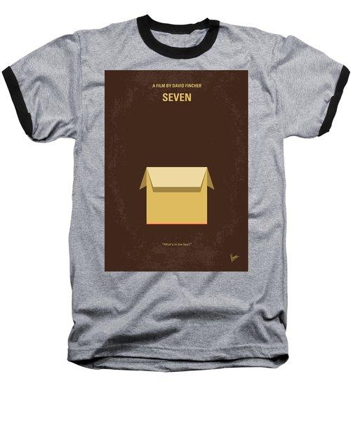 No233 My Seven Minimal Movie Poster Baseball T-Shirt