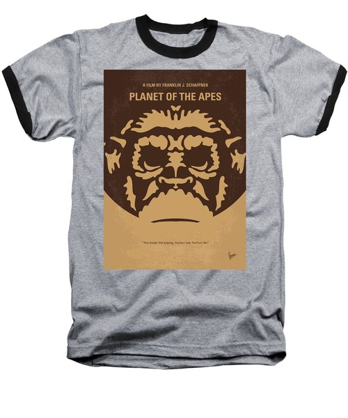 No270 My Planet Of The Apes Minimal Movie Poster Baseball T-Shirt