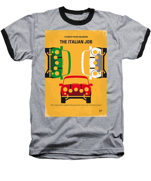 No279 My The Italian Job Minimal Movie Poster Baseball T-Shirt
