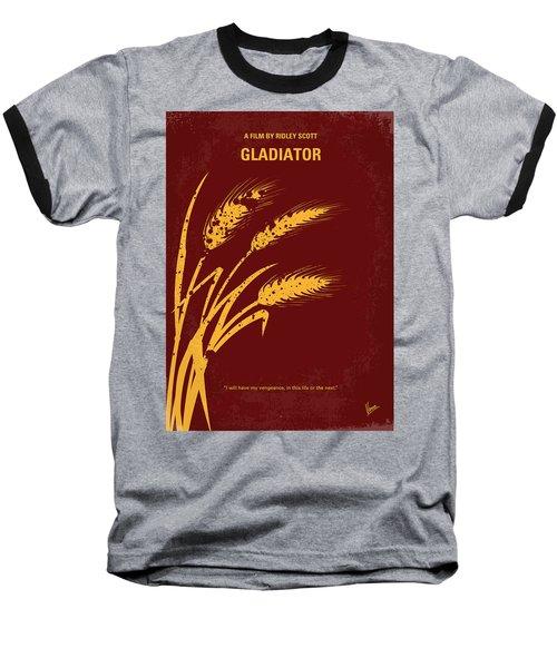 No300 My Gladiator Minimal Movie Poster Baseball T-Shirt