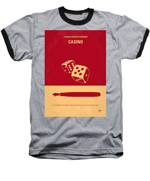 No348 My Casino Minimal Movie Poster Baseball T-Shirt
