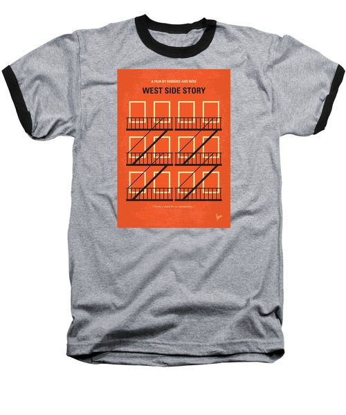 No387 My West Side Story Minimal Movie Poster Baseball T-Shirt