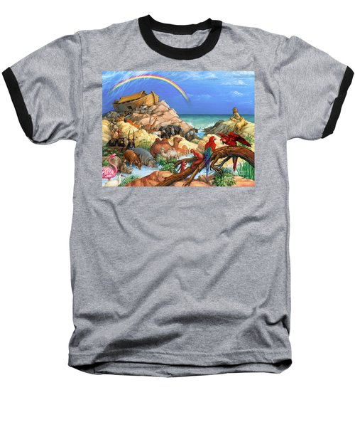 Noah And The Ark Baseball T-Shirt