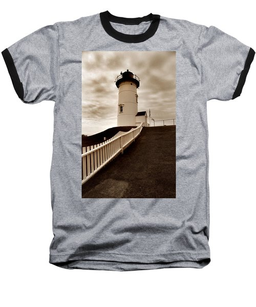Nobska Lighthouse Baseball T-Shirt
