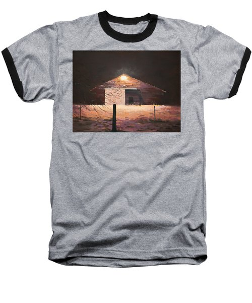 Nocturnal Barn Baseball T-Shirt