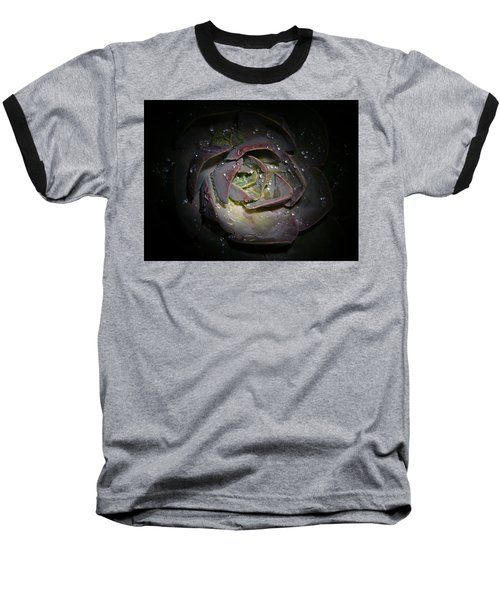 Nocturnal Diamonds Baseball T-Shirt by Evelyn Tambour
