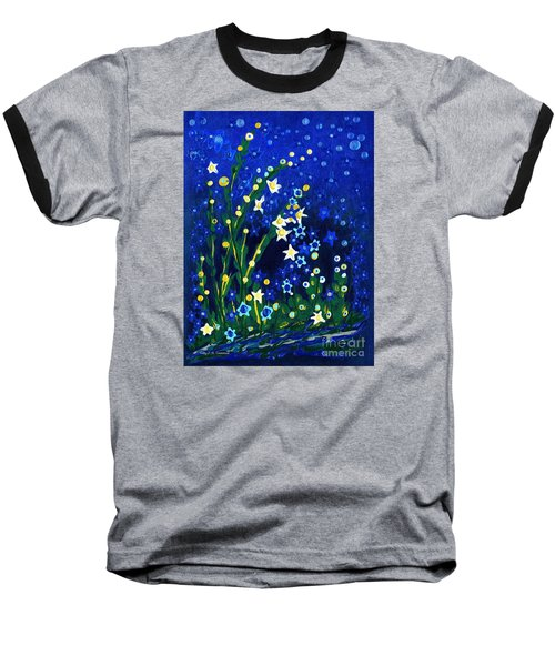 Nocturne Baseball T-Shirt by Holly Carmichael