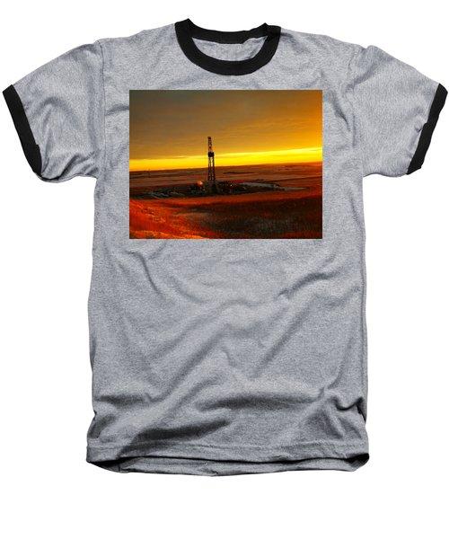 Nomac Drilling Keene North Dakota Baseball T-Shirt by Jeff Swan