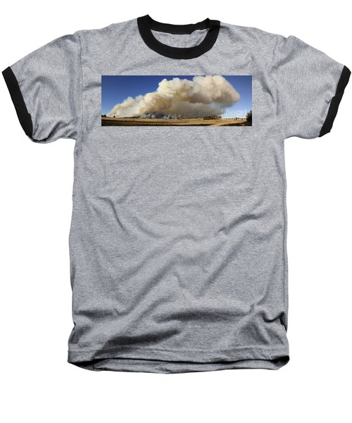 Norbeck Prescribed Fire Smoke Column Baseball T-Shirt