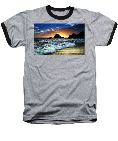 Norcal Sunset On Jenner Beach Baseball T-Shirt