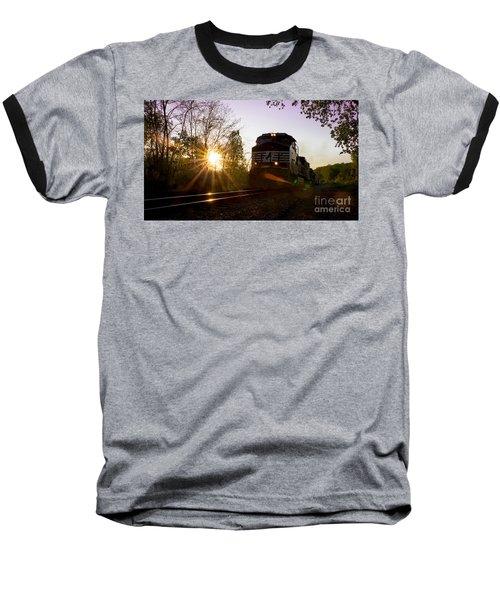 Norfolk And Southern At Sunset Baseball T-Shirt
