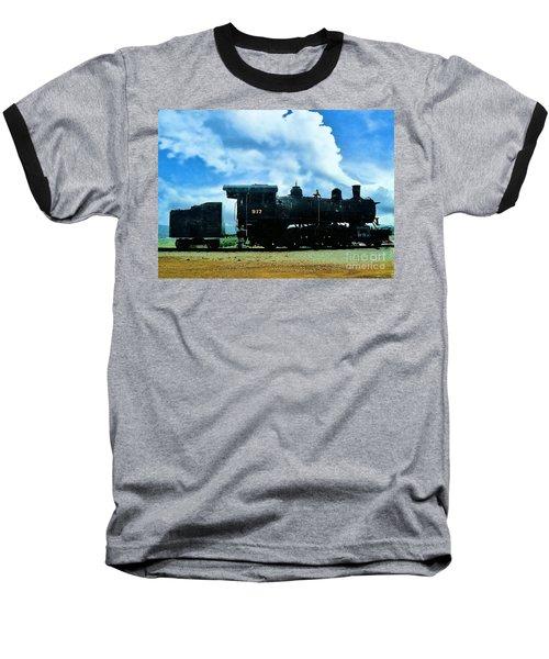 Norfolk Western Steam Locomotive 917 Baseball T-Shirt by Janette Boyd