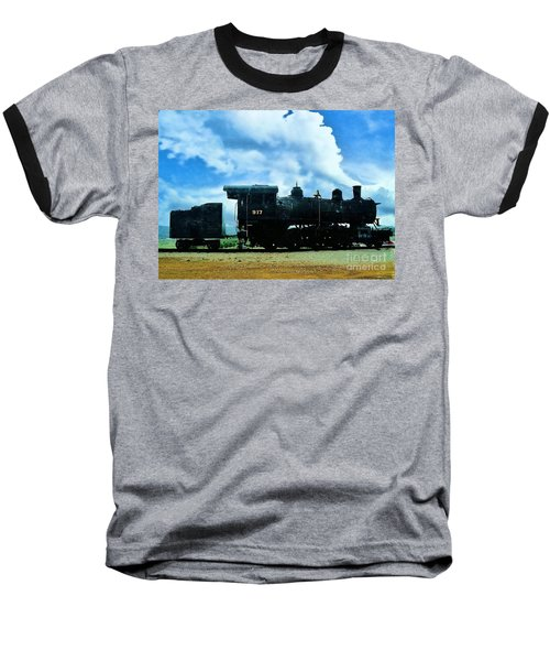Norfolk Western Steam Locomotive 917 Baseball T-Shirt