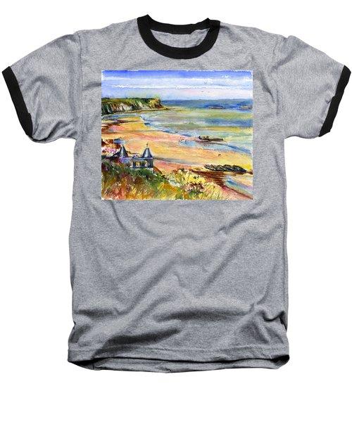 Normandy Beach Baseball T-Shirt by John D Benson