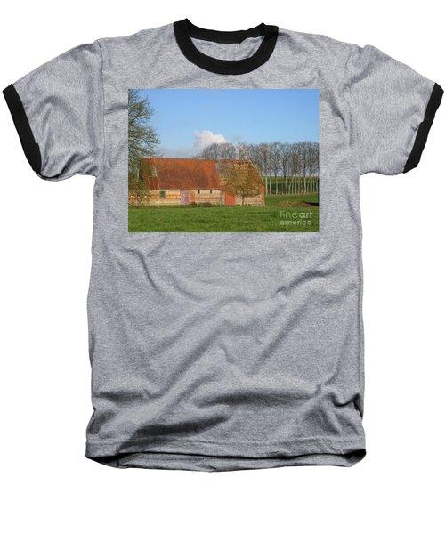 Normandy Storm Damaged Barn Baseball T-Shirt