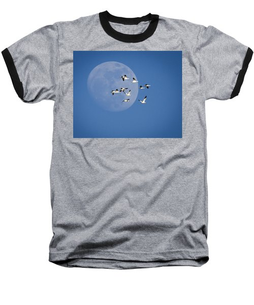 Baseball T-Shirt featuring the photograph North Bound by Jack Bell