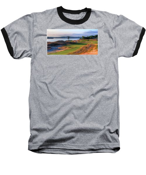 Baseball T-Shirt featuring the photograph North By Northwest - Chambers Bay Golf Course by Chris Anderson