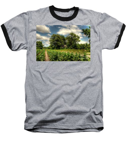 North Carolina Tobacco Farm Baseball T-Shirt