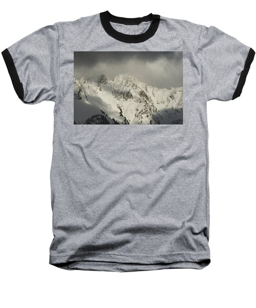 North Cascades Mountains In Winter Baseball T-Shirt