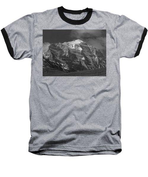 203553-north Face Mt. Temple Bw Baseball T-Shirt