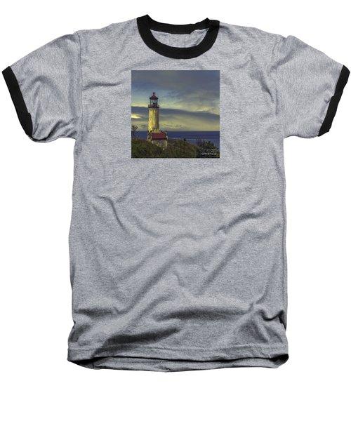 North Head Lighthouse Baseball T-Shirt by Jean OKeeffe Macro Abundance Art