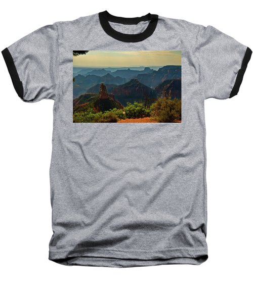 Baseball T-Shirt featuring the photograph North Rim Grand Canyon Imperial Point by Bob and Nadine Johnston